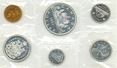 CANADA 1963 Proof Like PL Uncirculated Set 1.1 OZ Pure Silver
