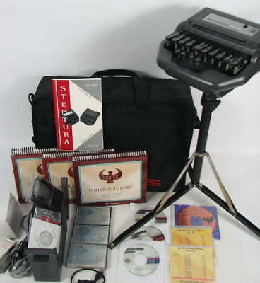 STENTURA 200 SRT MANUAL STENOGRAPH & SPEED DICTATION GUIDES w/CASE & TRIPODS