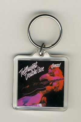 Ted Nugent Double Live Gonzo Acrylic Photo Keychain Key Fob