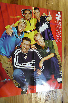 "NSYNC 17 X 13"" POSTER-Colorful Poster with 5 Artists and Their Names"