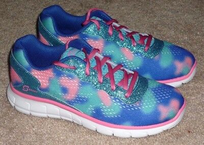 Girls Size 4 - S Sport by Skechers Sneakers Blue & Pink Shoes - BRAND NEW!