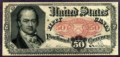 HGR 1875 .50cent 5th Issue ((Crawford)) Appears GEM UNCIRCULATED