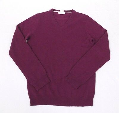 J.Crew Crewcuts Kid's Unisex Collection Cashmere V Neck Sweater Deep Red 14 EUC