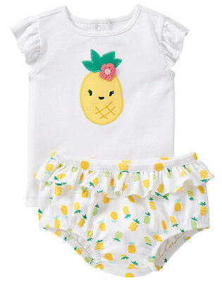 NWT Gymboree Pineapple Top Bloomer Set Outfit 2PC Baby Girl