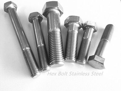 M8 M10 M16 Hex Bolt Stainless Steel 316 Marine Grade Metric Coarse