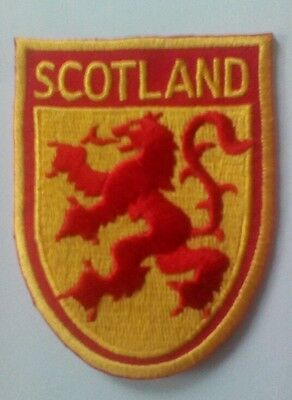 Lion Rampant Scotland Embroidered sew/iron on Patch