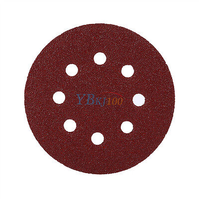 10X 5 inch 125mm Round Shaped Sanding Disc Pads 8 Hole Sandpaper 60-1000 Grit TP