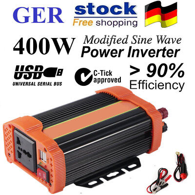 400W Car Power Inverter DC12V to AC220V Modified Charger Power Converter CC