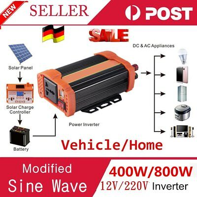 4000w Peak Modified Sine Wave Power Inverter Dc 12v To Ac 220v Car Caravannc Special Buy In-car Technology, Gps & Security Parts & Accessories