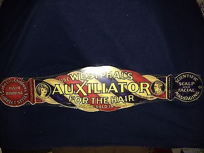 Barber Shop Pole Use Westphals Auxiliator Hair + Face Reproduction Advertisment