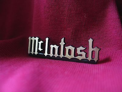 McIntosh brass logo badge 50mm