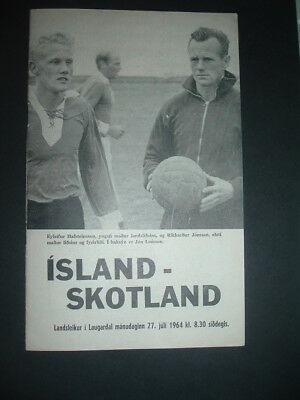 Iceland v Scotland Amateurs July 1964