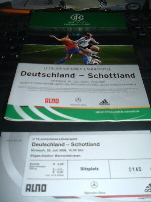 Germany Under 15 Ladies v Scotland Under 15 Ladies July 2009 incl ticket