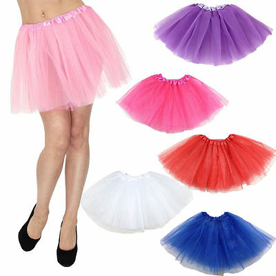 Hot Tulle Ballet Women Circle A Line Flare Gauze Tutu Skirt Candy Color US Stock