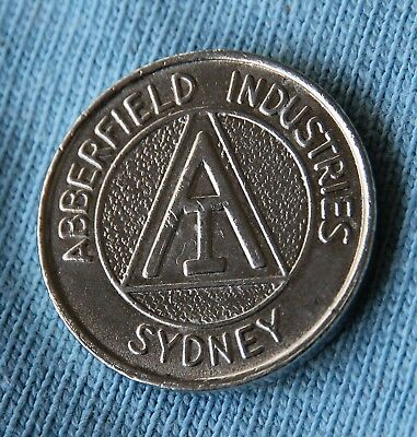 1980's Abberfield Industries Dispensers Token - Scarce & Collectible