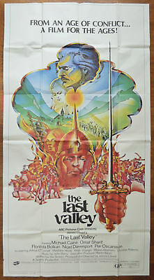 THE LAST VALLEY (1971) Cinema 3 Sheet Movie Poster - Michael Caine, Omar Sharif