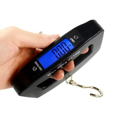 LCD Electronic Scale 50kg Capacity Hand Carry Luggage Digital Weighing Device
