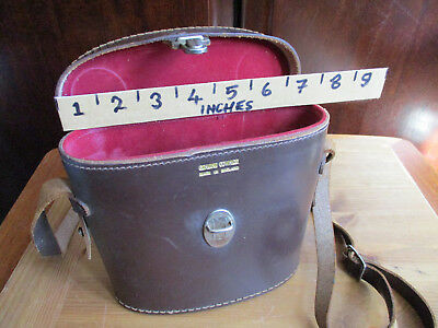 Vintage medium sized real leather binocular case. Made in England.
