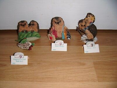 3 Country Artists Hedgies ~ Retail Therapy ~ Winter Snow ~ Leaf Made for 2  Mint