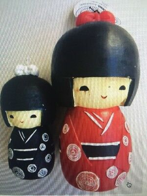 @@@ S & P Japanese Kimono Doll Candles Set Of 2 @@@ Nwt @@@ Must C @@@