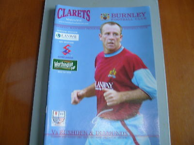 Burnley v Rushden & Diamonds 01/02 W. Cup