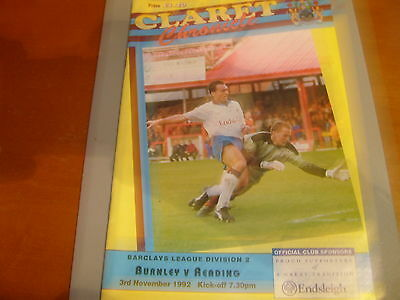 Burnley v Reading 92/93