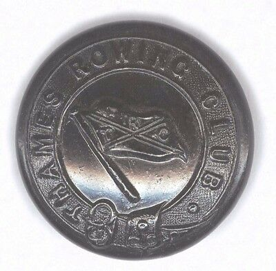 Thames Rowing Club Large Black Japanned Button