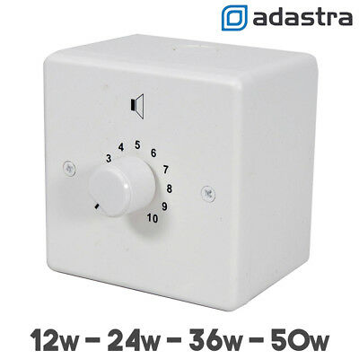 100V Line Speaker Volume Control Attenuator 24V Relay Fitted - 50W 36W 24W 12W