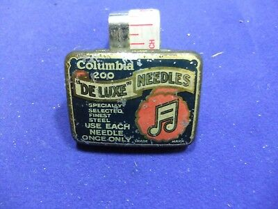 vtg needle tin columbia de luxe needles 200 gramophone record