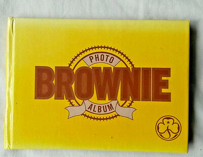 Brownies Yellow Photo Album 6x4 Vintage Scouts Girl Guides Collectables