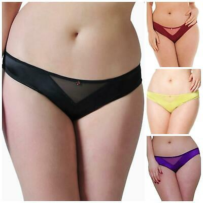 Scantilly by Curvy Kate Invitation Brief Knickers ST2505 Black//Crystal New