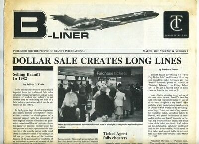 Braniff B Liner March 1982 Dollar Sale + Agent Assigned Duties Slippage Memo