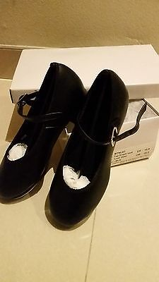 Tap Shoes - Black with Buckle from Brazen Dancewear Child Size 12.5 - 19.2cm