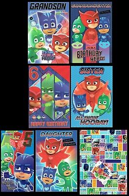 PJ MASKS OFFICIAL BIRTHDAY CARDS Great Selection To Choose From LK