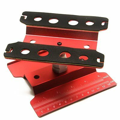 RC Car 1/10 Repair Station Assembly Platform Display Stand for 1/8 Buggy (Red)