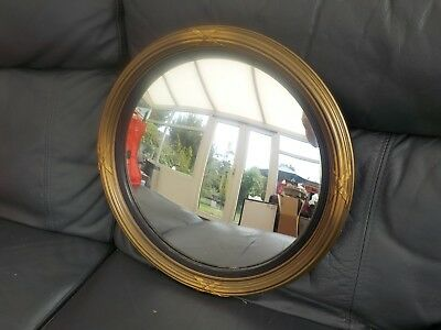 Beautiful porthole Vintage Retro  Round Convex Wall Mirror 40s / 50s collectable
