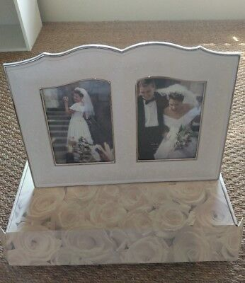 """Lenox Wedding Promises Opal Innocence 5"""" x 7"""" Double Picture Frame NWT"""