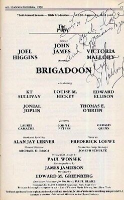 Brigadoon Program signed by Victoria Mallory at The MUNY