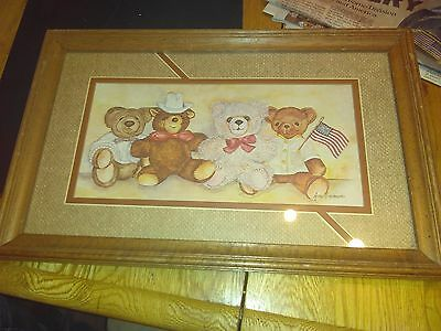 Teddy bear picture and frame