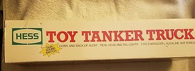 New In Original Box: 1990 Hess Toy Tanker Truck With Lights Horn & Alert Sound