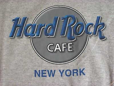 1741-Hard Rock Cafe New York T Shirt Gray SZ L New W/O Tags Midtown New York