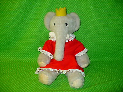 "Vintage Eden CELESTE the ELEPHANT QUEEN Babar 16"" tall Plush Stuffed Animal"