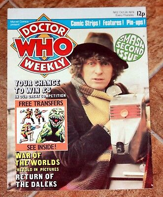 Dr Who Weekly - Issue 2 Oct 24 1979 - Tom Baker - Daleks - War of the Worlds