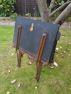 Extremely rare artists portfolio case table vintage antique