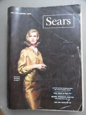 1963 SEARS Catalog Fall & Winter Atomic Age Fashions Vintage Original 1646 Pages