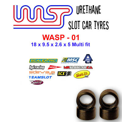 WASP 01- Urethane Slot Car Tyres -Ninco, SCX, MSC, Autoart, Spirit & Teams