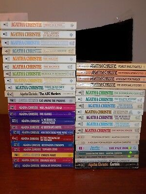 Huge lot of 40 Agatha Christie MYSTERIES - paperback - Poirot, Miss Marple