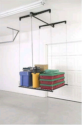 HeavyLift Elevator Cable-Lifted Rack Garage Shop Barn Storage Load Organize New