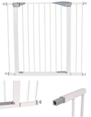 Pressure Safety Fence Gate With Door For Baby Extension Toddler Pet Child secure