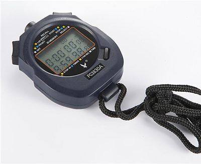 New Large 3 row display 30 split recallable memory Professional stopwatch Timer